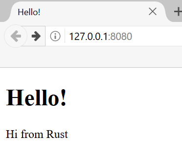 hello from rust